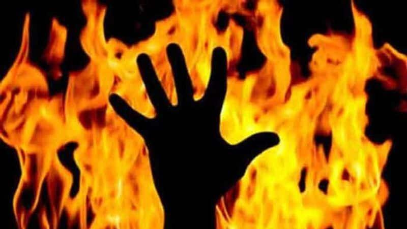 Man set fire on his own son in Tamilnadu