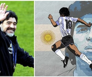 Famous footballer Maradona dies. !! Shocked fans ..!