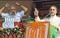<p>narendra Modi and Asaduddin Owaisi</p>