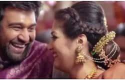 <p>Meghna Raj and Chiranjeevi Sarja</p>