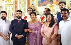 <p>antony perumbavoor daughter betrothal ceremony</p>