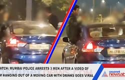 Watch: Mumbai Police arrests 3 men after video of them hanging out of moving car window goes viral