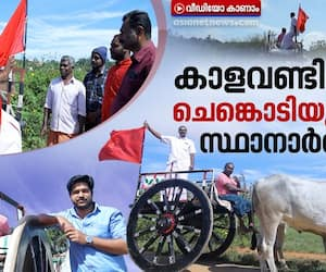 local body election campaign in bullock cart