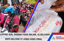 <p><b>Philippine girl orders food online, 42 delivery boys deliver it; Video goes viral</b></p>