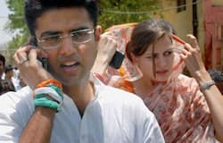 <p><strong>Sachin Pilot and Sara Pilot</strong><br /> Former Rajasthan Deputy Chief Minister Sachin Pilot married former union minister Farooq Abdullah's daughter Sara Abdullah. Sara and Pilot fell in love when they pursued higher education abroad and in 2004 they married despite strong objections especially coming from Farooq Abdullah as they are Kashmiri Muslims. Now it seems the volatile situation has eased. The couple have two children.</p>