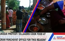 Unique protest: Villagers cook food at Gram Panchayat office for this reason?