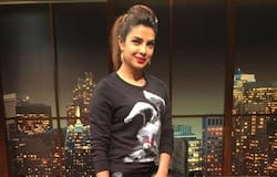 """<p style=""""text-align: justify;""""><strong>Priyanka Chopra</strong><br /> Who would know that a simple black t-shirt can look super fashionable? Priyanka Chopra turned everybody's head with her pairing of a black t-shirt and black leather pants. Completed her look with a high ponytail.</p>"""