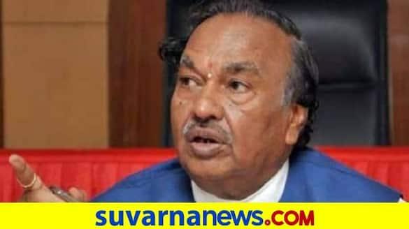 Dr RM Kuberappa Slam Minister KS Eshwarappa grg
