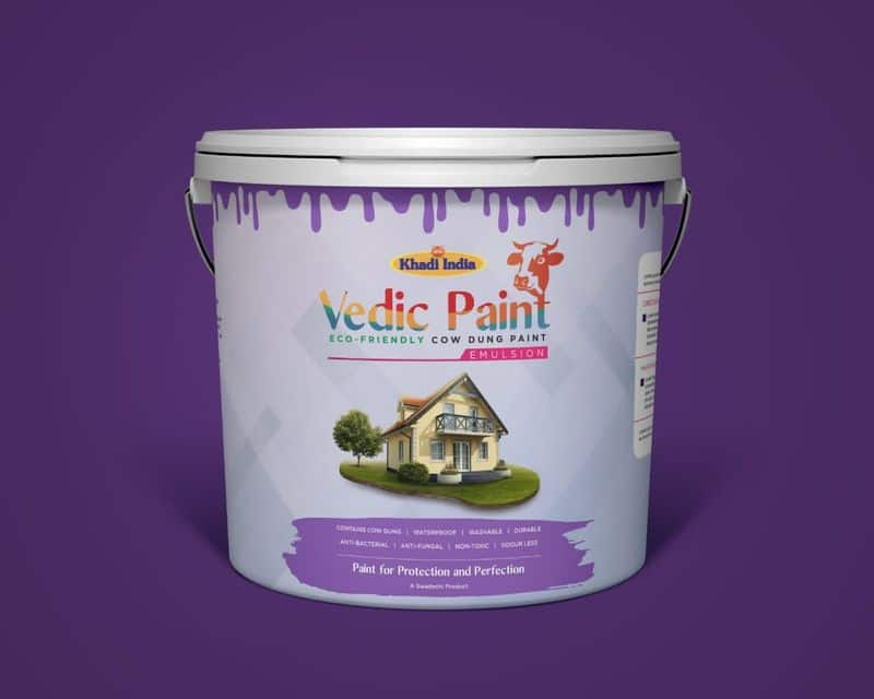 Khadi India under Khadi & Village Industries Commission, Government of India, is soon launching Vedic Paint made out of cow dung.