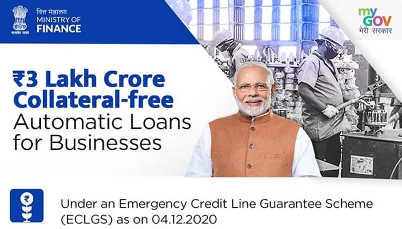 Under the Atmanibhar Bharat programme, the Modi government has disbursed collateral-free loans to the tune of Rs 3 lakh crore for businesses