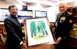 <p>Chairman of Uttarakhand War memorial, Shaurya Sthal, Tarun Vijay, Chief of the Defence Staff, General Bipin Rawat</p>