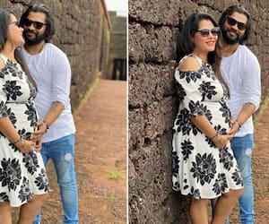 Bhojpuri Actress Seema Singh is pregnant for seven months she shared good news with Rahul Yadav Asianetnews hindi See pics of flaunting baby bump KPY