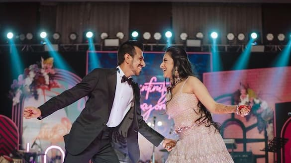 Watch Yuzvendra Chahal, Dhanashree Verma dance it out during their Sangeet ceremony-ayh
