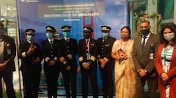 <p>कैप्टन पापागरी तनमई (फोटो में)।&nbsp;एयर इंडिया की कार्यकारी निदेशक (फ्लाइट सेफ्टी) कैप्टन निवेदिता भसीन भी इस फ्लाइट में एक यात्री के रूप में यात्रा कर रहीं थीं।</p>