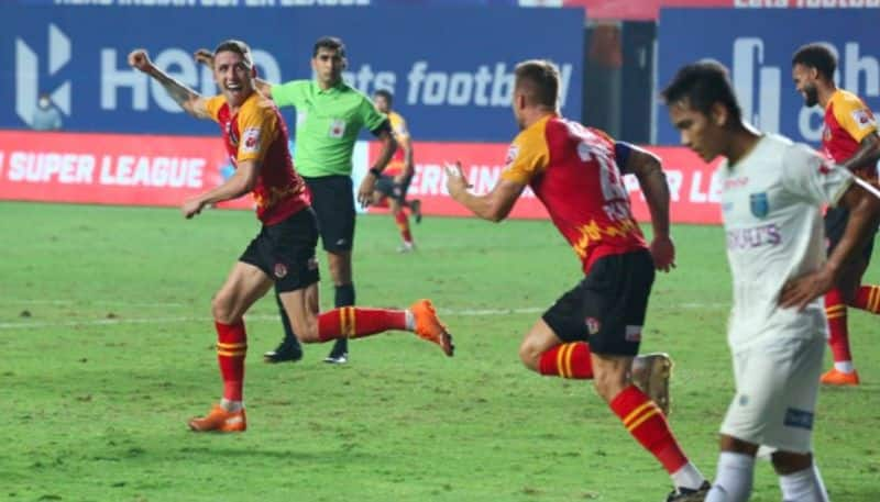 <p>In what turned out to be a thrilling encounter, SC East Bengal settled for a 1-1 draw against Kerala Blasters in the 2020-21 Indian Super League (ISL), at the Tilak Maidan in Goa, on Friday. With this, SCEB stayed on ninth, while Kerala remained on the tenth.</p>
