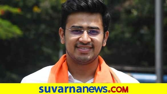 BJP MP Tejasvi Surya Press conference on reforms made in BBMP Bed Allocation System rbj