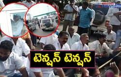 devineni uma arrest... tension situation at ibrahimpatnam, pamidimukkala police stations