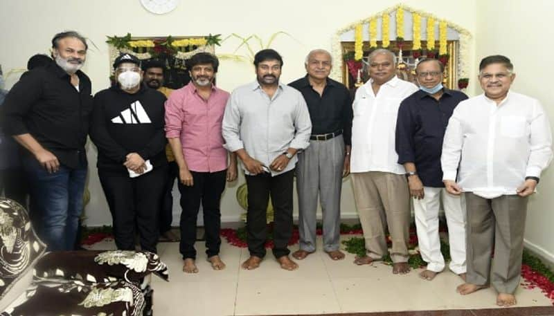 chiranjeevi started lucifer remake with mohan raja  arj