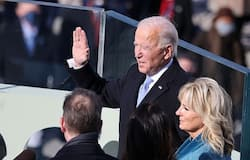 <p>Joe Biden has been sworn in as the 46th President of the United States.<br /> &nbsp;</p>  <p>Also sworn in at the scaled-back ceremony at the Capitol Hill was Vice President Kamala Harris.&nbsp;<br /> &nbsp;</p>  <p>Biden, who was dressed in a navy suit and navy overcoat designed by American designer Ralph Lauren, was administered the oath of office by US Supreme Court Chief Justice John Roberts.&nbsp;</p>