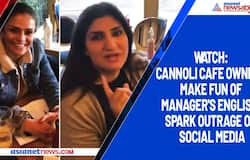 Watch: Cannoli cafe owners make fun of manager's English; spark outrage on social media