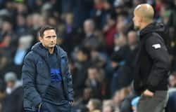 <p>Pep Guardiola and Frank Lampard</p>