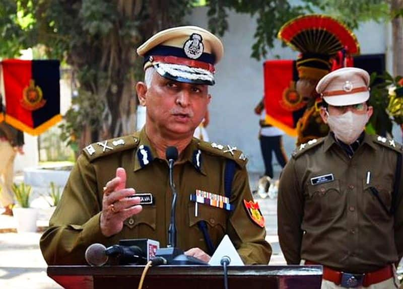delhi police commissioner briefing on farmer violence in tractor rally ksp