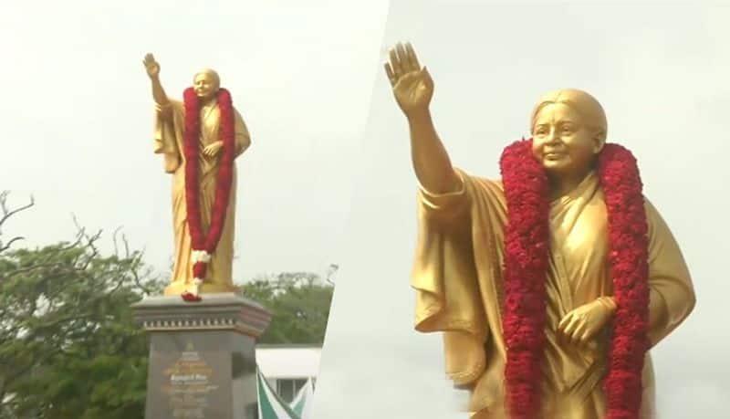 jayalalitha statue...panneerselvam slams dmk government