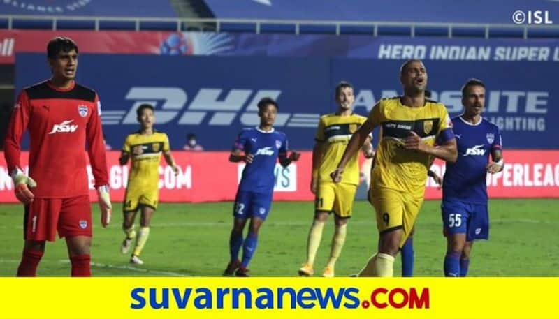 ISL 7 Hyderabad FC vs Bengaluru FC ends with draw kvn