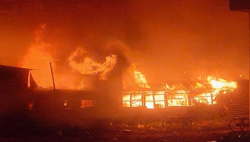 Fire Accident in deferent two place at Murshidabad and Dumdum ASB