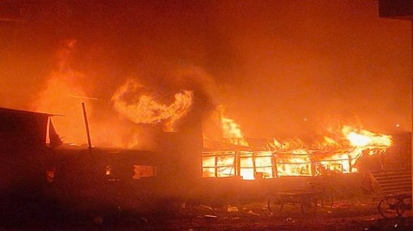 fire breaks out in chemical factory at Pedda amberpet in hyderabad