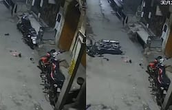 <p>parked bike moves on its own cctv video goes viral</p>
