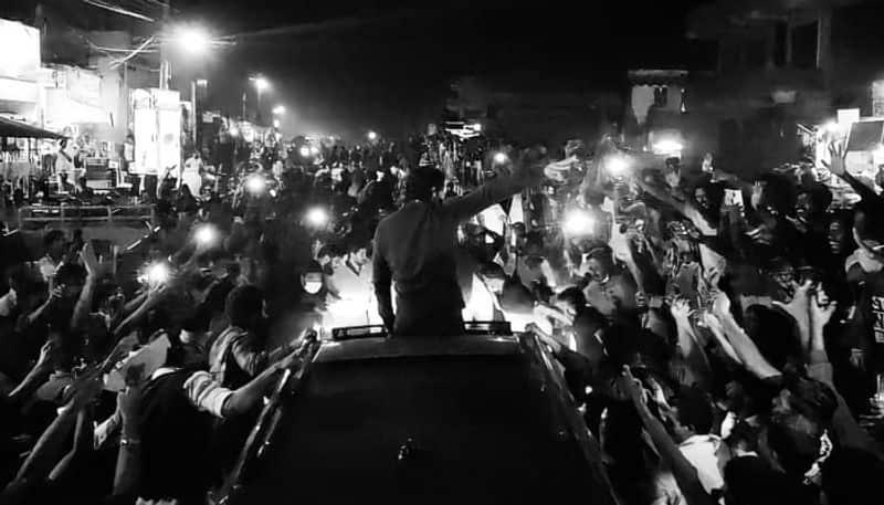 fans surprise to allu arjun in rampchodavaram arj