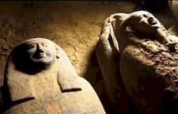 <p>मिस्र में कई तरह की ममियां मिलती हैं। एक ममी ने डेथ मास्क लगाया था। वहीं इलाके में मिली एक ममी के चेहरे पर स्माइल ने भी चर्चा बटोरी। कई ममियां गोल्डन रैप के साथ मिली। तो कुछ के हेयरस्टाइल ने सुर्खियां बटोरी। अब सोने की जीभ की काफी चर्चा हो रही है।&nbsp;</p>