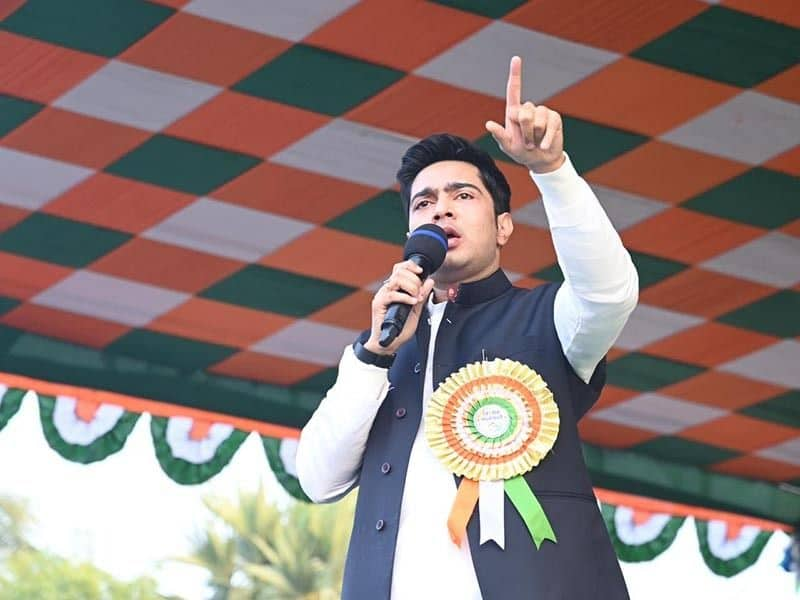 Bengal election Abhishek Banerjee slams BJP says outsiders will have to return after WB Polls-dbr