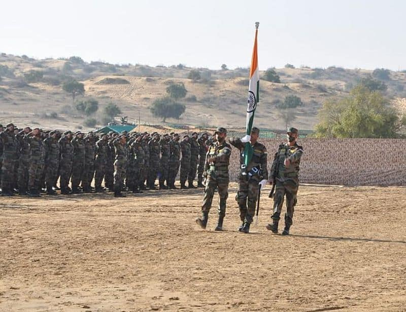 India and the United States today commenced their 16th edition of bilateral military exercises Yudh Abhyas at Mahajan Field Firing Ranges in Bikaner of Rajasthan.The opening ceremony witnessed unfurling of the national flags of both countries amidst playing of the national anthems.