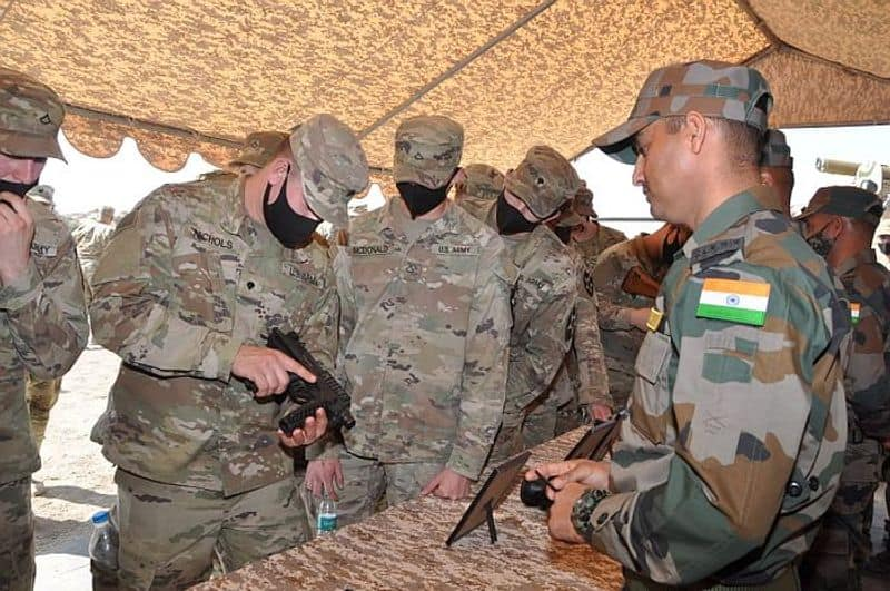 On February 6, a contingent of 270 US soldiers arrived at Suratgarh in Rajasthan, where they were welcomed by Indian Army's 170 Infantry Brigade Commander Brig Mukesh Bhanwala.Indian Army's platforms like newly-inducted indigenous Advance Light Helicopter WSI 'Rudra', Mi-17, Chinooks and BMP-II mechanised infantry combat vehicles while the US Army's Stryker vehicles will participate in the exercise.