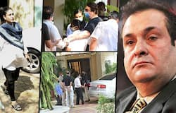 """<p style=""""text-align: justify;"""">Brother Randhir Kapoor, sister-in-law Neetu Kapoor were spotted at Rajiv Kapoor's residence.</p>"""