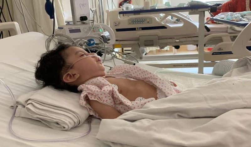 Crowd fun helps 4 months Baby with rare condition to get Rs 16 crore jab ckm