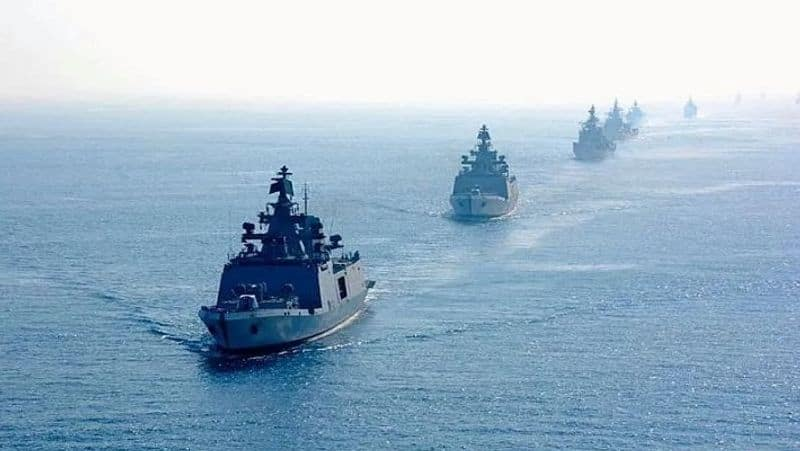 """Indian Navy's largest war game, involving its several assets like warships, submarines, aircraft with operational units of the Indian Army, Indian Air Force and Coast Guard, is currently underway.The biennial Theatre Level Operational Readiness Exercise (TROPEX 21) commenced early January and would culminate by the third week of February.""""The exercise is being conducted over a vast geographical expanse in the Indian Ocean Region, including its adjunct waters and is aimed at testing combat readiness of the Navy in a complex multi-dimensional scenario set in the context of the current geostrategic environment,"""" the Indian Navy said."""