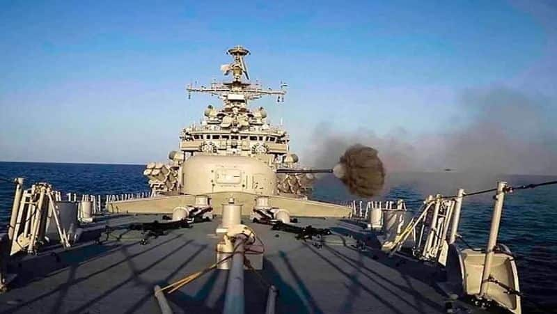 """""""The Weapon Workup Phase of TROPEX, which concluded recently, witnessed multiple 'on-target' ordnance deliveries including missiles, torpedoes and rockets from frontline warships, aircraft and submarines and demonstrated the lethal firepower of the Indian Navy and reaffirm the Navy's capability to carry out long-range maritime strikes in the Indian Ocean Region, a capability that is central to meeting operational challenges and ensuring safe seas and secure coasts,"""" it added."""
