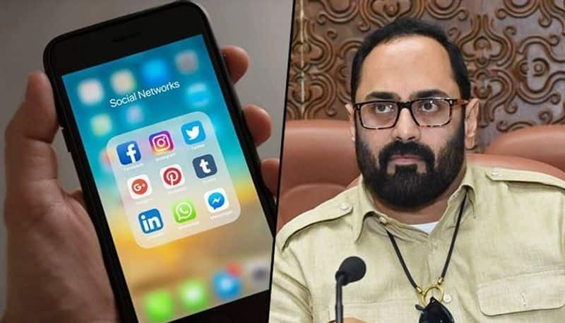 mp rajeev chandrasekhar question on infringement of indian laws by various social media platforms KSP