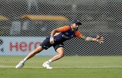 "<p>He also worked on his fielding during the training session. He shared a couple of his training pictures on Instagram, as he captioned it, ""The work goes on 👊👊"".</p>  <p>(Image courtesy: BCCI)</p>"
