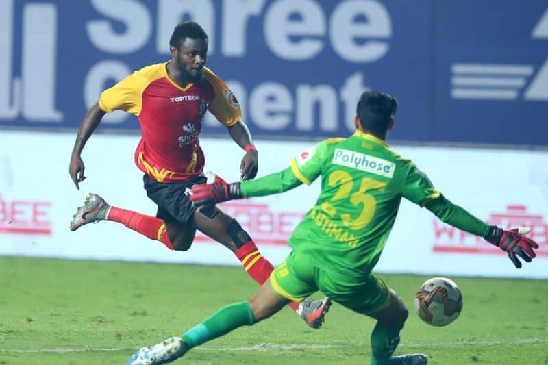 <p>The second half saw three attacks until the 58th minute, as the same minute saw Bright Enobakhare handing SCEB the lead, with his right foot to the bottom-right from the left, following an assist from Anthony Pilkington.</p>