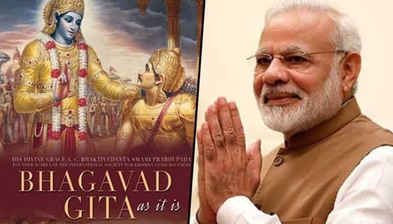 New chapter in India space history Indian satellite to carry Bhagavad Gita PM Modis photo