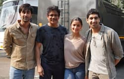 """<p>They were snapped during candid moments on the tight security movie set in Mumbai. Sharing the news on Twitter on Tuesday morning, he wrote, """"And it's a wrap for me on #Brahmāstra. Such an amazing experience it has been with our stellar performers #Ranbir and @Aliaa08. Can't wait for you guys to witness the outstanding world #AyanMukerji has created. #TheBigIndianMovie #Brahmastra.""""</p>"""