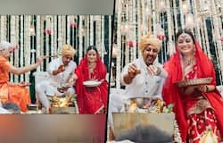 """<p style=""""text-align: justify;"""">The highest point for us was the Vedic ceremony conducted by a woman priest! I had never seen a woman performing a wedding ceremony until I attended my childhood friend Ananya's wedding a few years ago. Ananya's wedding gift to Vaibhav and me was to bring Sheela Atta who is her aunt and also a priestess, to perform the ceremony for us. She also painstakingly went through several hours of training to imbibe the essence of the scriptures so that she could assist Sheela Atta and translate the shlokas! It was such a privilege and a joy to be married this way! We do hope with all our heart that many more couples make this choice. For it is a woman's soul that contains love, wonder, benediction, magical energy, tenderness and deep empathy for all that lives."""" She further added.</p>"""