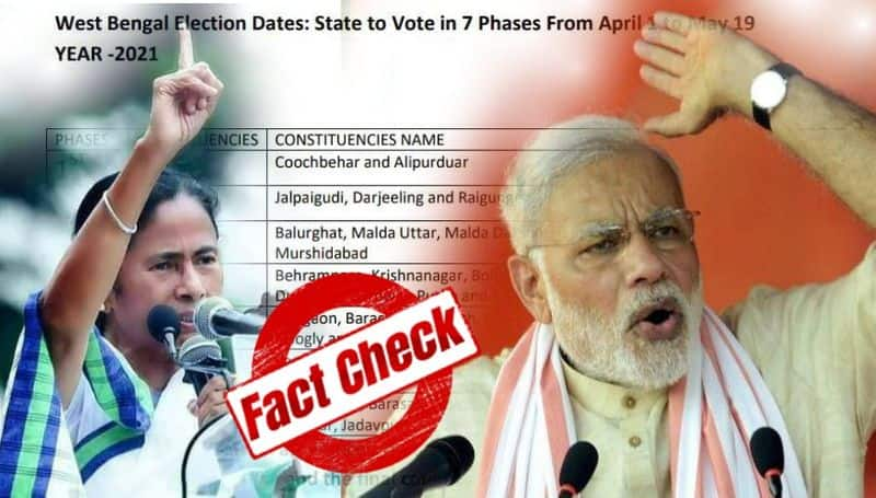 Bengal election Fake West Bengal election schedule goes viral on social media-dbr