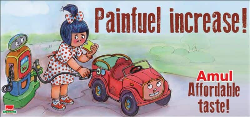 Amul Joins The Fuel Price Hike Debate With Its New Topical