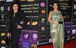 """<p style=""""text-align: justify;""""><strong>Divya Khosla Kumar</strong><br /> Divya looked pretty in a floral printed lehenga. She completed her look with statement earrings.</p>"""