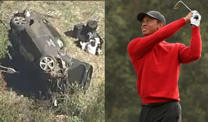 Golf Legendary super star Tiger woods met with a Car accident again CRA